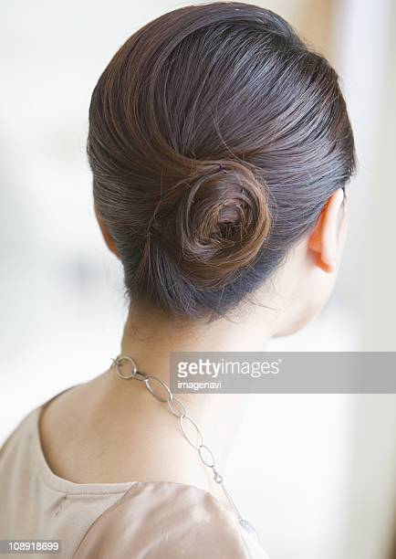 Woman with updo