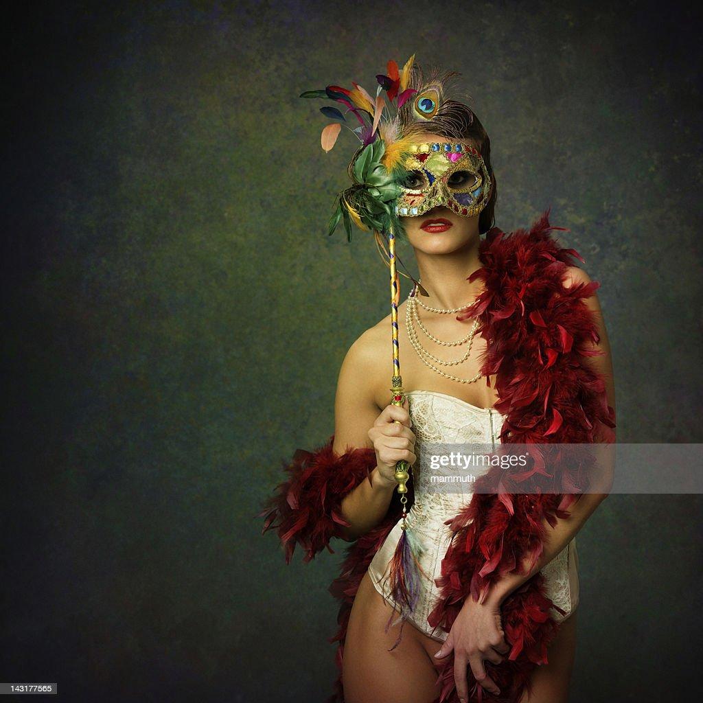 woman with venetian mask : Stock Photo