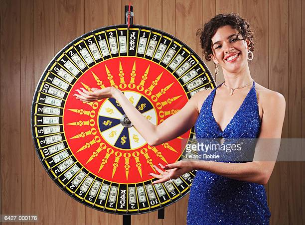 Woman with Wheel of Fortune
