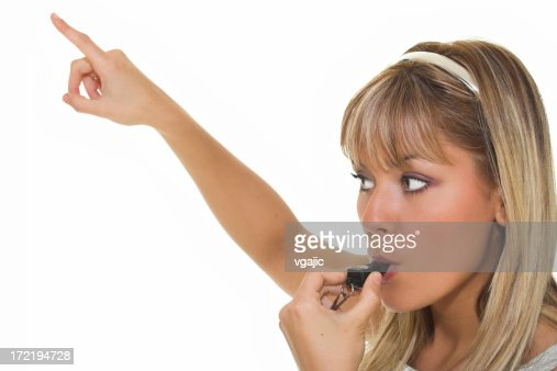 Woman with whistle