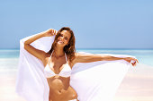 Woman with white sarong