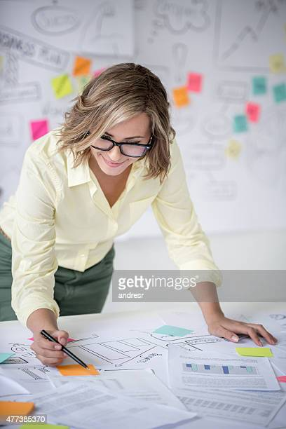 Woman working at a creative office