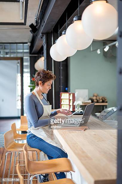 Woman working at a restaurant
