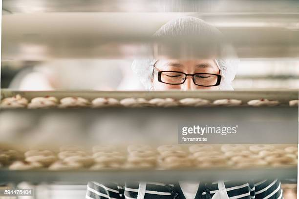 Woman working at Bakery Workshop