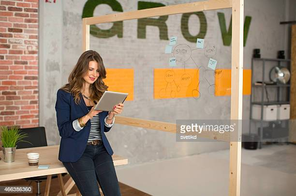Woman working at modern office.