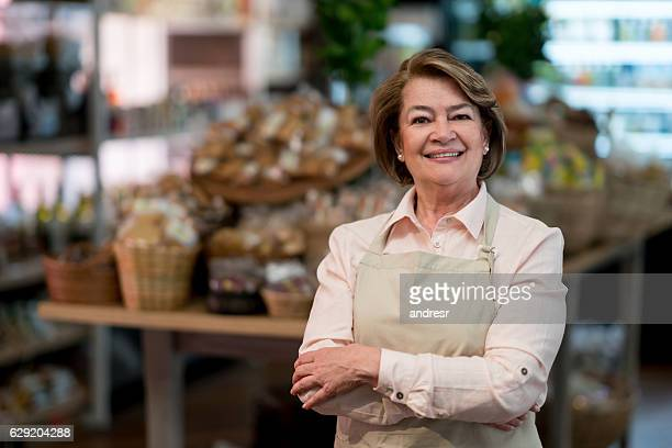 Woman working at the supermarket