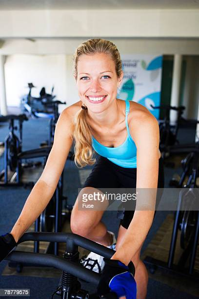 Woman Working Out at Gym