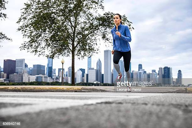 Woman working out outdoor in the city