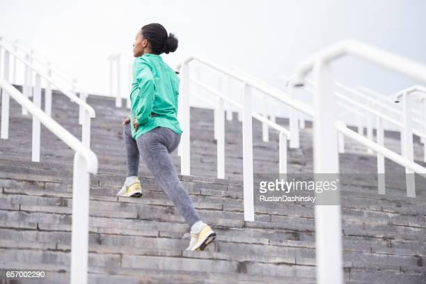 Woman workout routine.