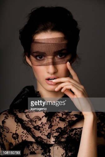 Woman Wrapped in Lace