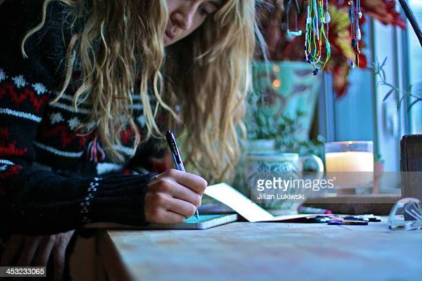 Woman Writes by Morning Light