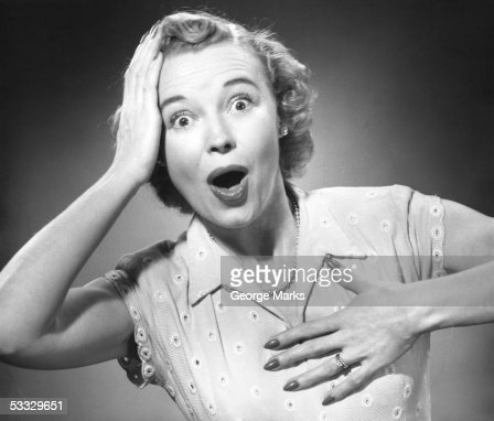 Woman w/surprised look : Stock Photo