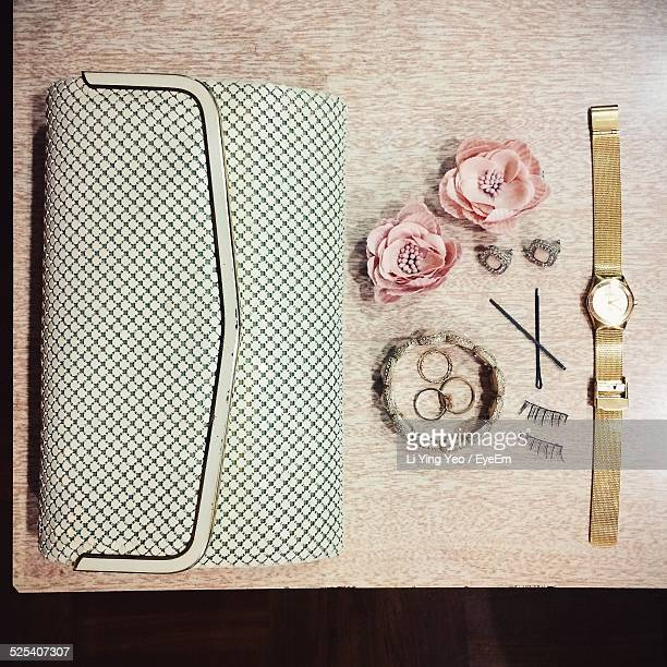 Womans Accessories On Table