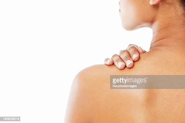 Frau mit nackten Schultern