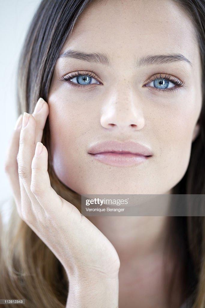 Woman's beauty attitude : Stock Photo