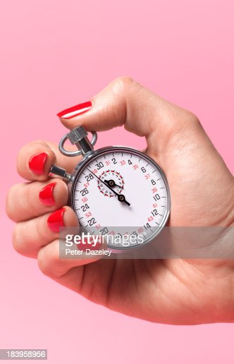 Woman's biological watch ticking