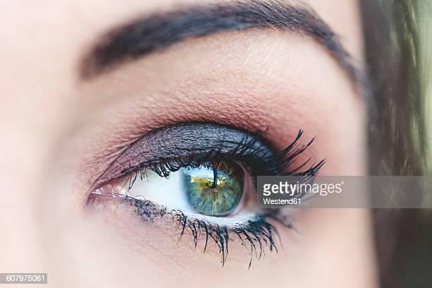 Womans blue eye