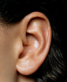 Woman's ear, close-up