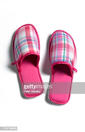 Woman's fashion slipper with copy space