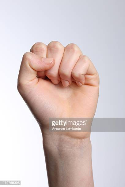 Woman's hand  making fist