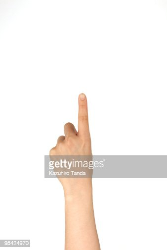 woman's hand, pointing : Stock Photo