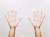 Woman's hands, open