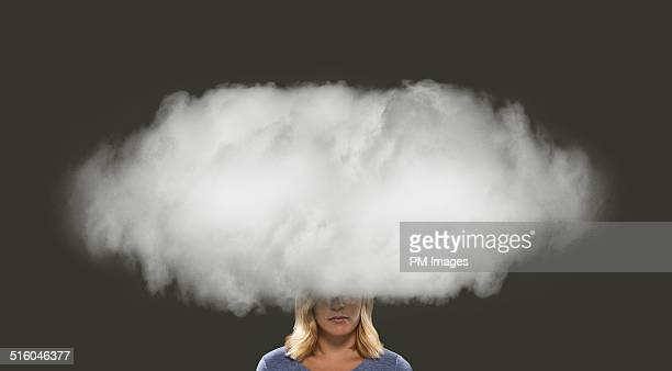 Woman's Head In A Cloud