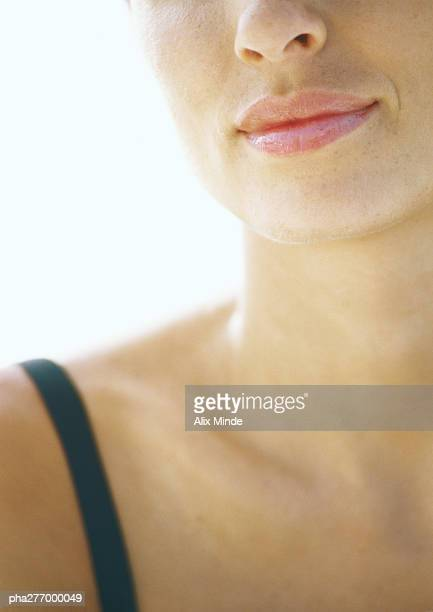 Woman's lower face and neck, close-up