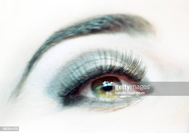 Woman's made-up eye, close-up