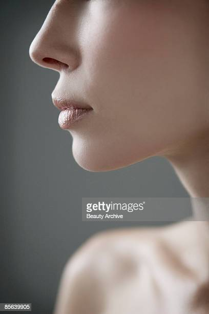 Woman's mouth and nose