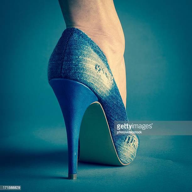 Woman's sexy high heels shoe detail
