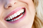 Womans smile, close-up