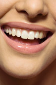 Woman's smiling mouth.