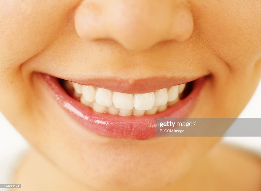 Woman's Toothy Smile