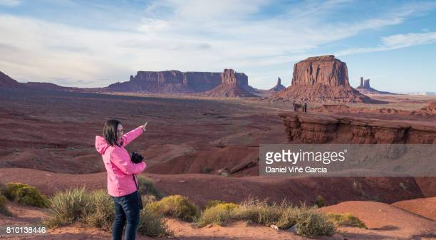 Womant at Monument Valley, Utah, USA