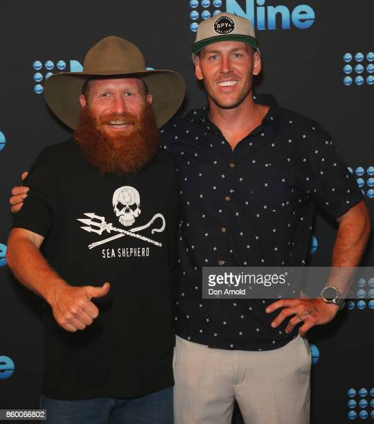 Wombat and Sticks pose during the Channel Nine Upfronts 2018 event on October 11 2017 in Sydney Australia