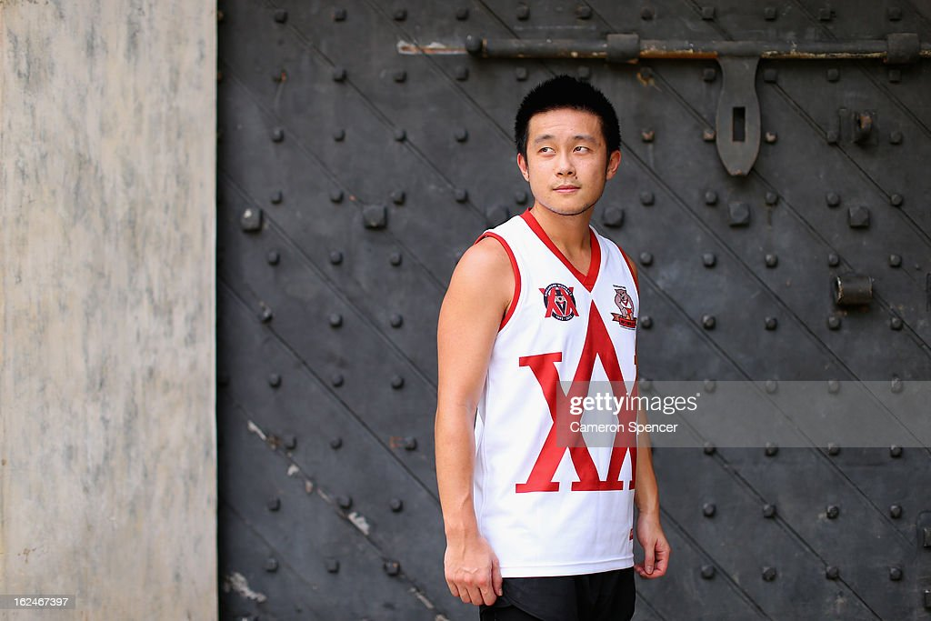 Wombats captain Jason Yap poses during a Singapore Wombats Aussie Rules training session at Fort Canning Park on February 23, 2013 in Singapore. The Singapore Australian Football Club (SAFC), known as the Singapore Wombats is celebrating 20 years this year. Established by Australian expatriates in 1993, the amateur team plays clubs from Indonesia, Japan, the Philippines, Thailand and Vietnam in an Asian Championship.