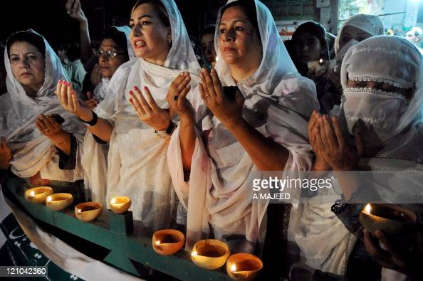 Women activists with the Pakistan Muslim Pictures | Getty ...