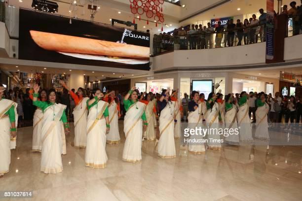 Women aged between 40 and 70 showed their patriotic side by dancing to songs like Jai Ho Desh Mera Rangeela I Love My India and Bharat Humko Jaan Se...