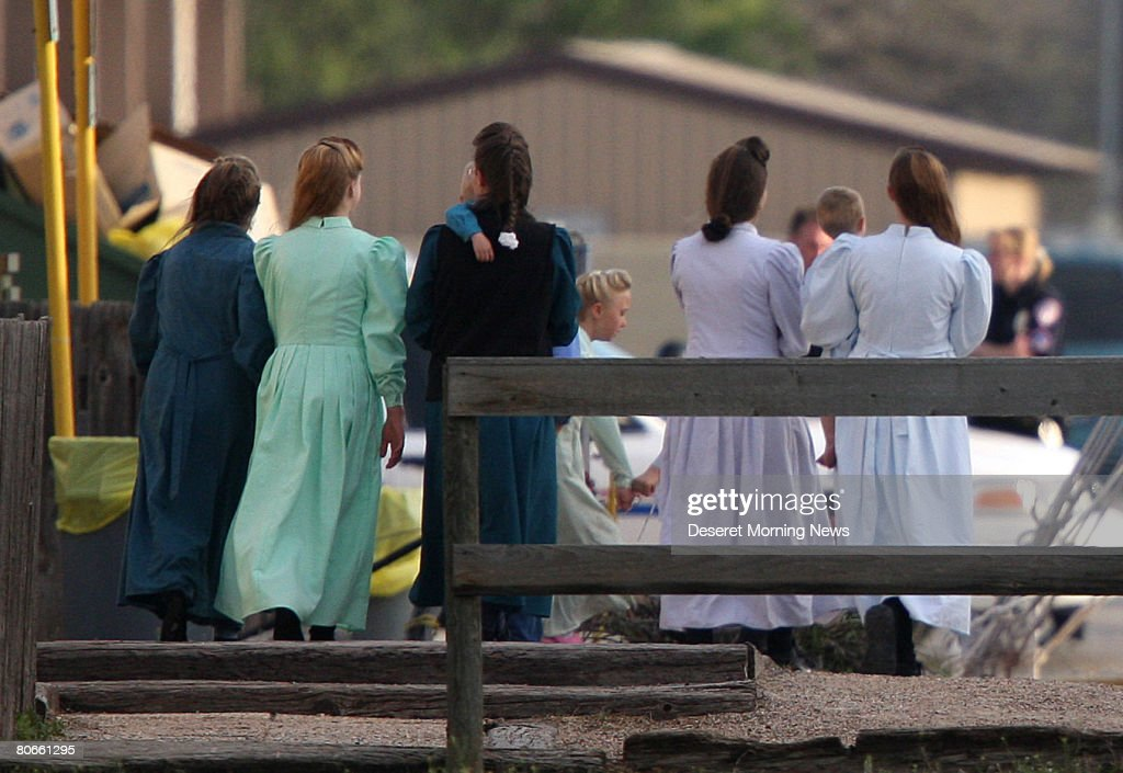 Women and children of the Fundamentalist Church of Jesus Christ of Latter Day Saints who were removed from the Yearning for Zion compound in Eldorado...