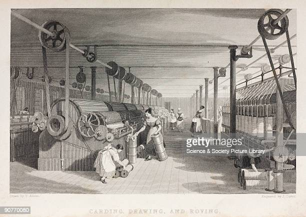 Women and children operating textile machinery The machines were connected via belts to a steam engine which provided the power The mechanisation of...