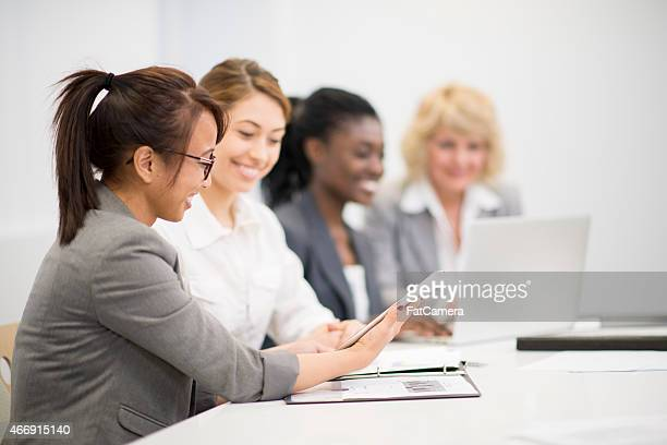 Women at a Business Meeting