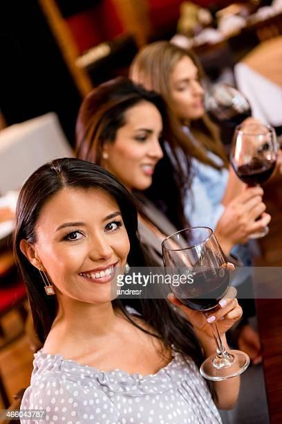 Women at a wine taste