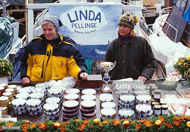 Women at Annual Herring Market in Helsinki