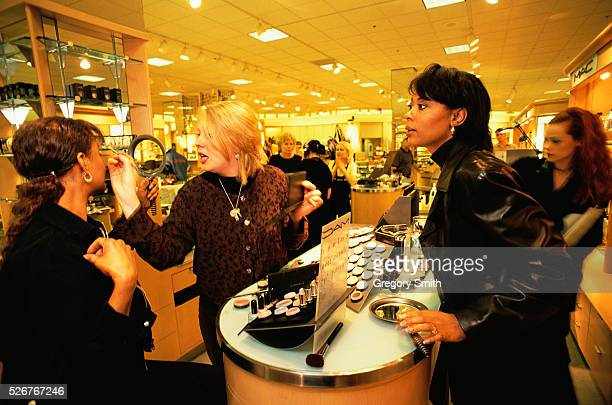 Women at Cosmetic Counter in Nordstrom Department Store