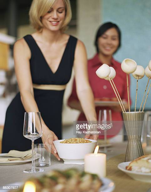 Women at dinner party