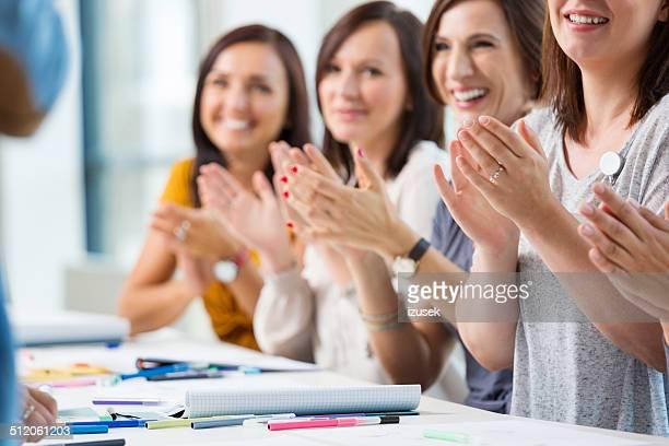 Women at the seminar