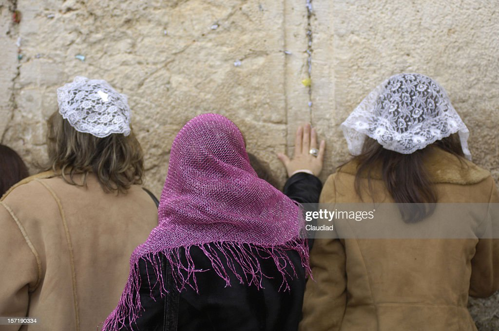 Women at the wailing wall