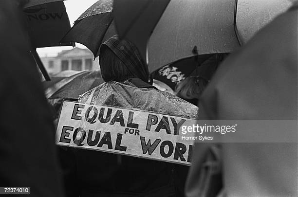 Women attend an Equal Pay for Equal Work demonstration in London's Trafalgar Square May 1968