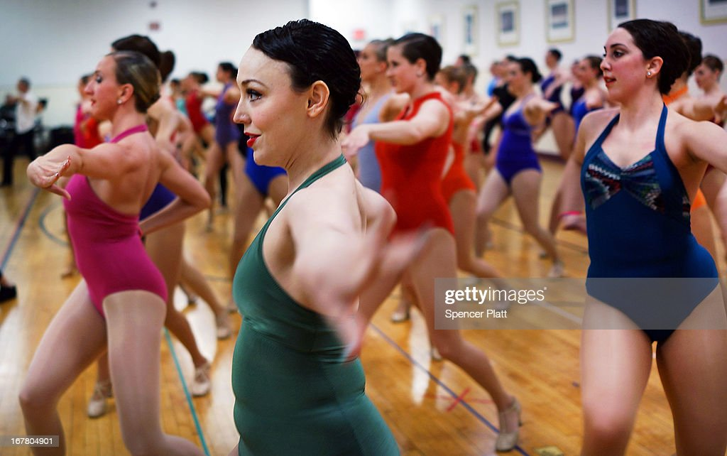 Women audition at Radio City Music Hall for a spot with the Rockettes on April 30, 2013 in New York City. In order to be considered for the Rockettes, dancers must be at least 18 years old, measure at a height between 5 feet 6 inches and 5 feet 10 1/2 inches without their heels on. The dancers must also be be proficient in numerous dance styles, including jazz, tap and ballet. The women who make it through the extremely competitive competition to land a spot with the legendary dance group will perform in the Radio City Christmas Spectacular which runs from November 8 -December 30 2013.